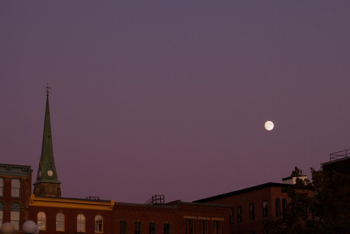 The Moon Over Prince William Street Photograph