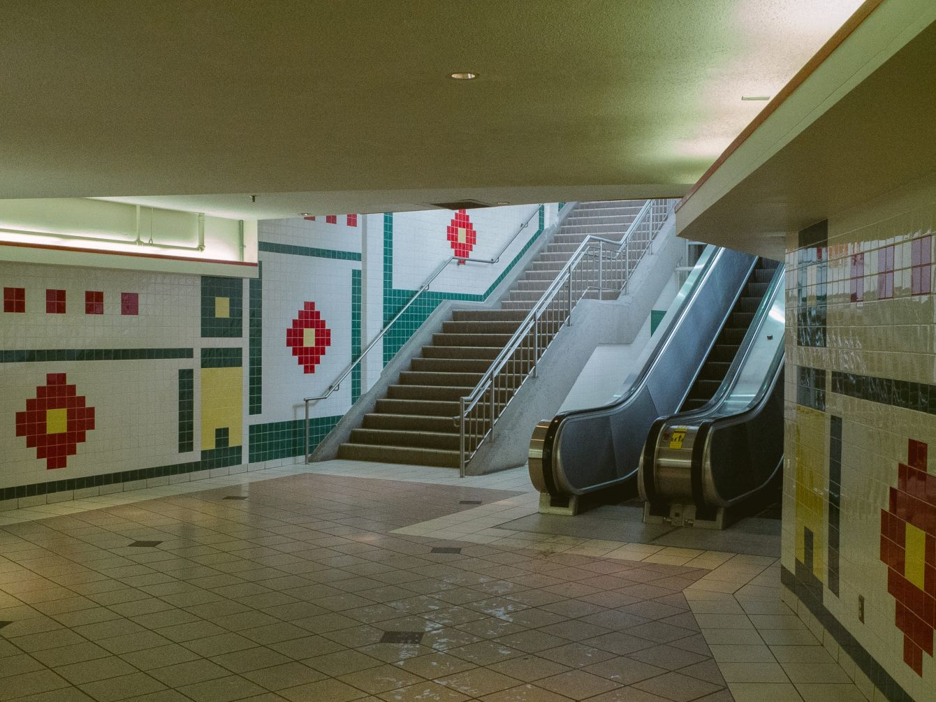Click thumbnail to see details about photo - Underground Market Walkway Saint John Photograph