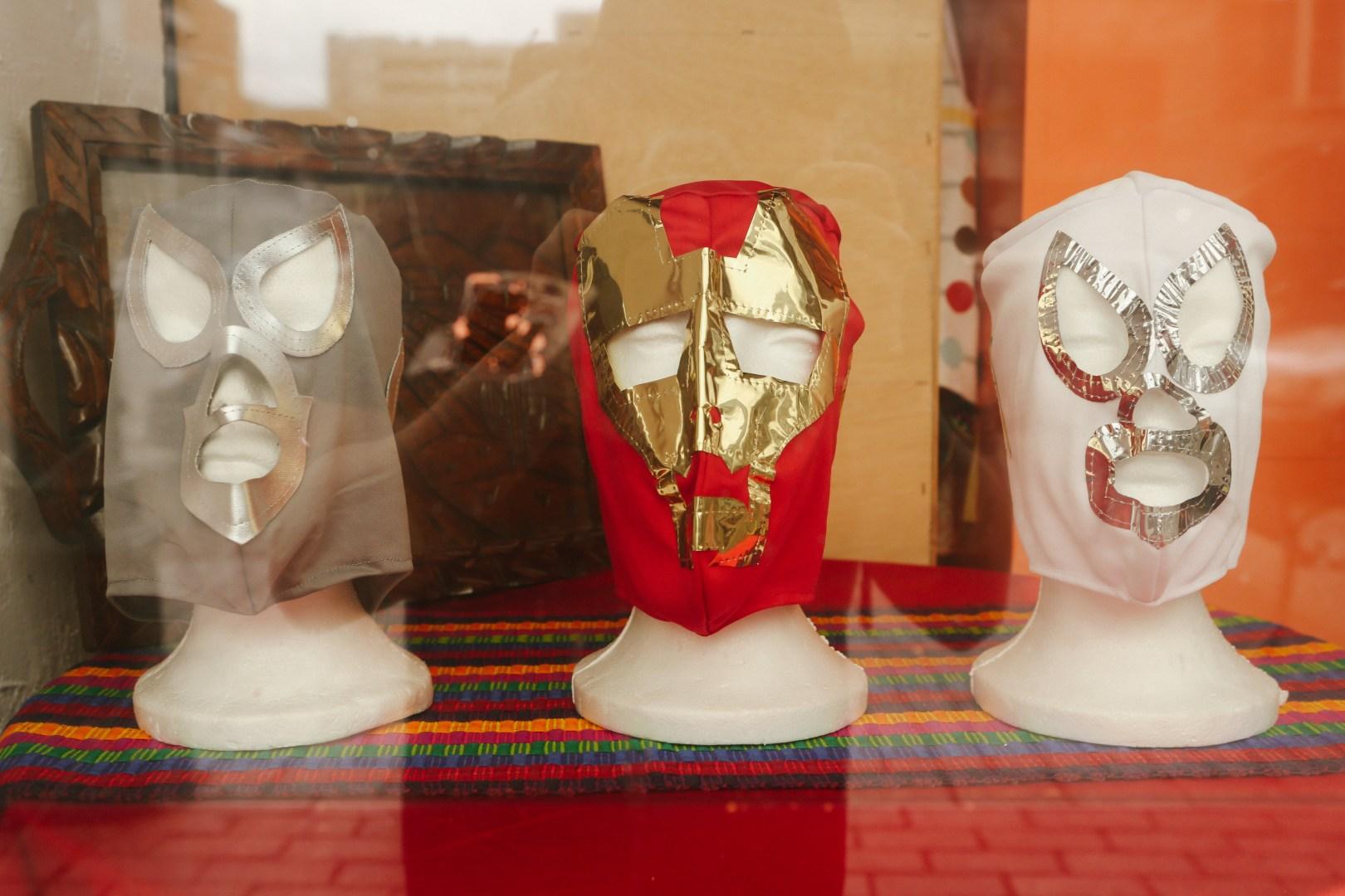 A photo of Austin Texas Lucha Libre Mask Storefront