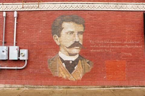 A photo of Austin Texas O Henry Wall Mural