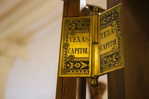 A photo of Austin Texas State Capital Door Hinges
