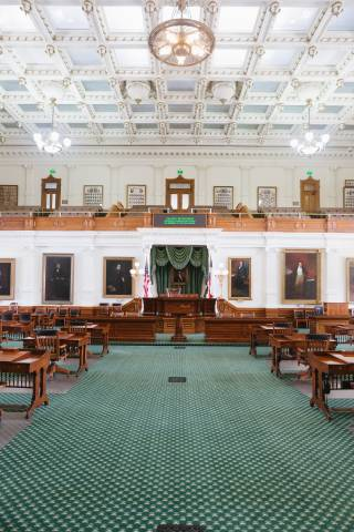 A photo of Austin Texas State Capital View on Floor