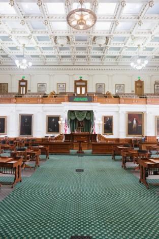 Austin Texas State Capital View on Floor