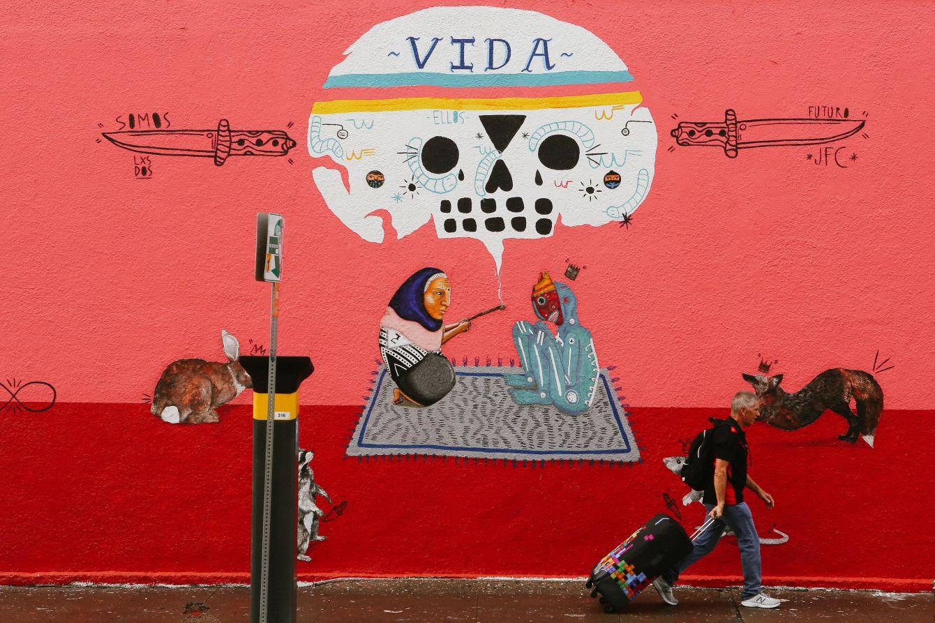 Click thumbnail to see details about photo - Austin Texas Vida Wall Mural Art