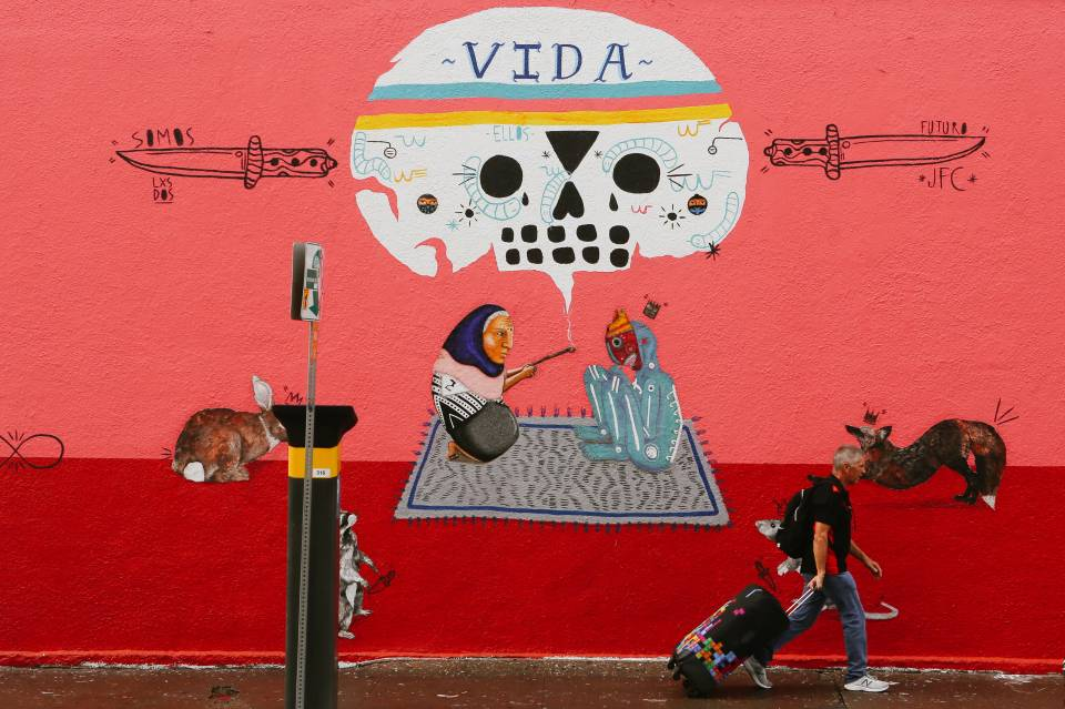 A photo of Austin Texas Vida Wall Mural Art