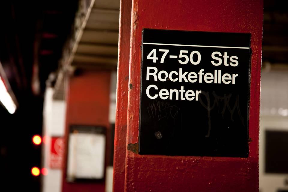 A photo of New York City 47Th 50Th Subway Rockafellar Center