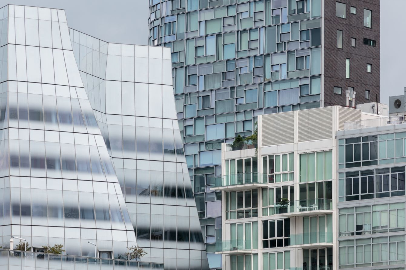 Click thumbnail to see details about photo - New York City Compressed Buildings