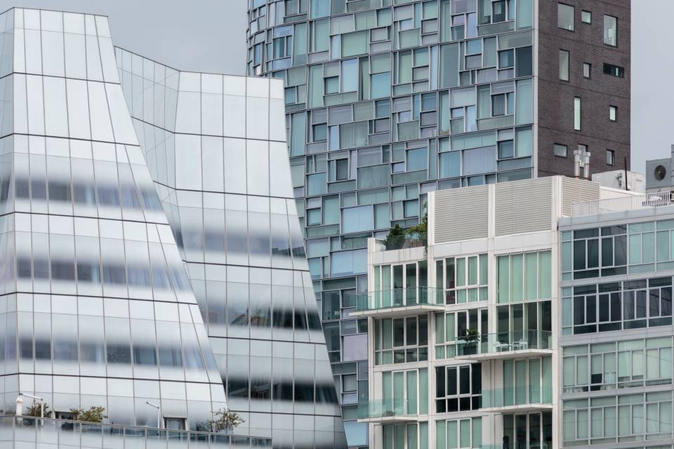 A photo of New York City Compressed Buildings