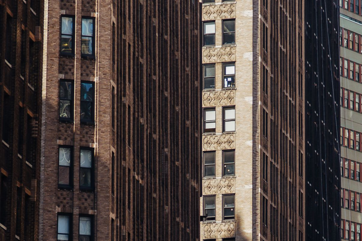 Click thumbnail to see details about photo - New York City Compressed Facades