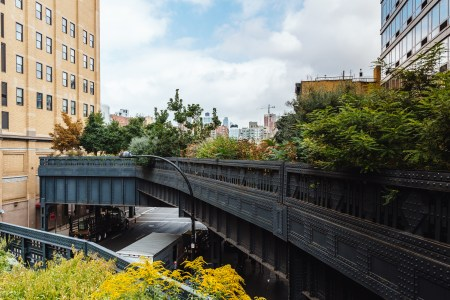 A photo of New York City Highrise Train Tracks