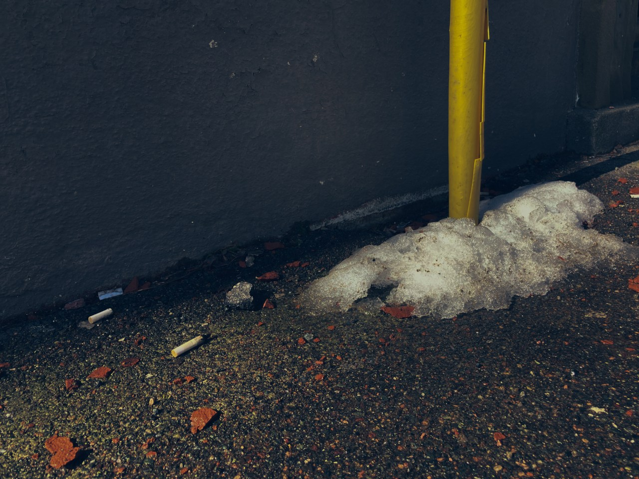 A photo of cigarette butts on canterbury street