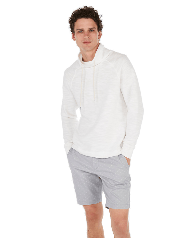 Express Terry Funnel Neck Hoodie