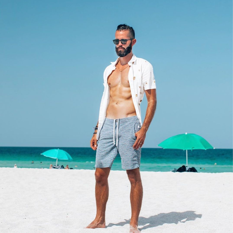 Michael Checkers men's style blogger Miami Beach Swim Week
