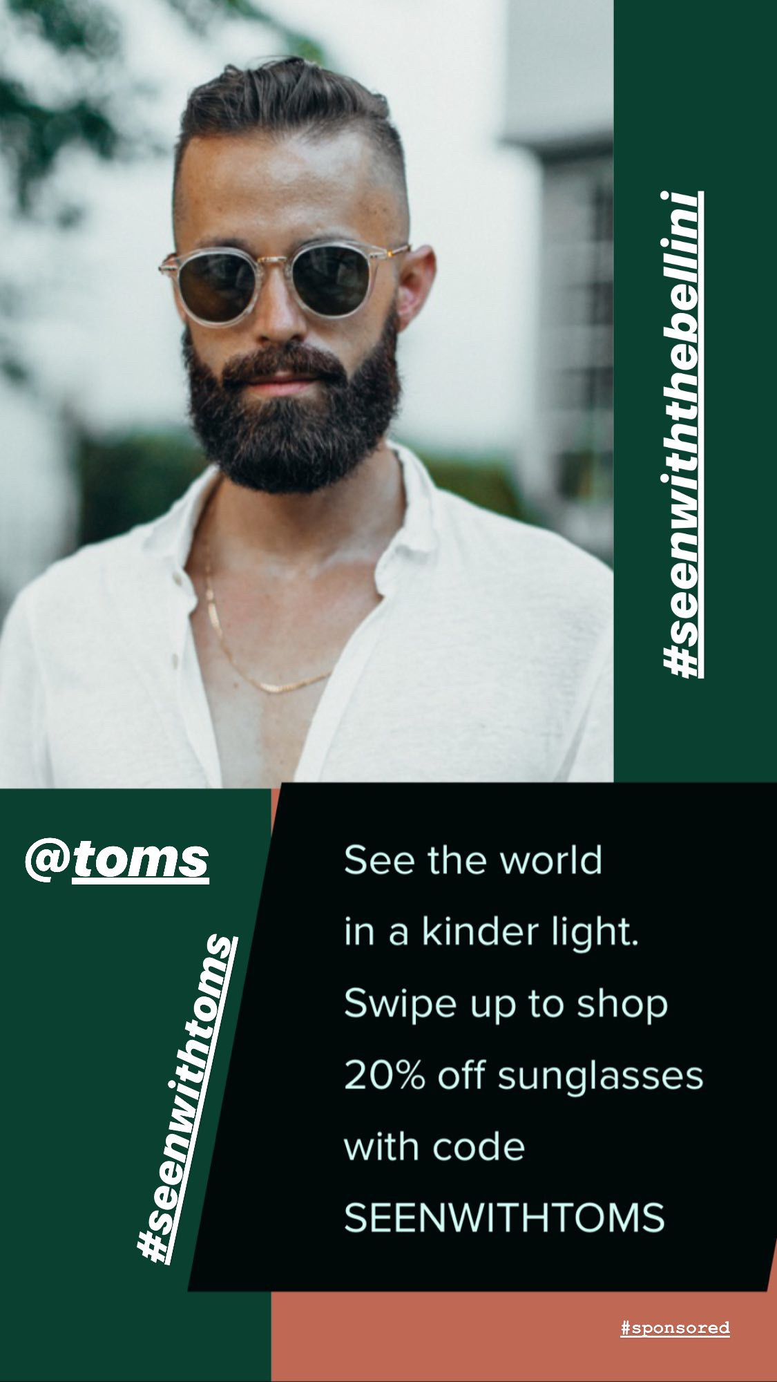 toms sunglasses instagram story 3