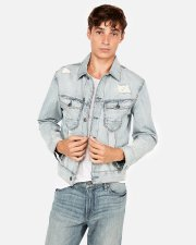 Express Destroyed Denim Trucker Jacket