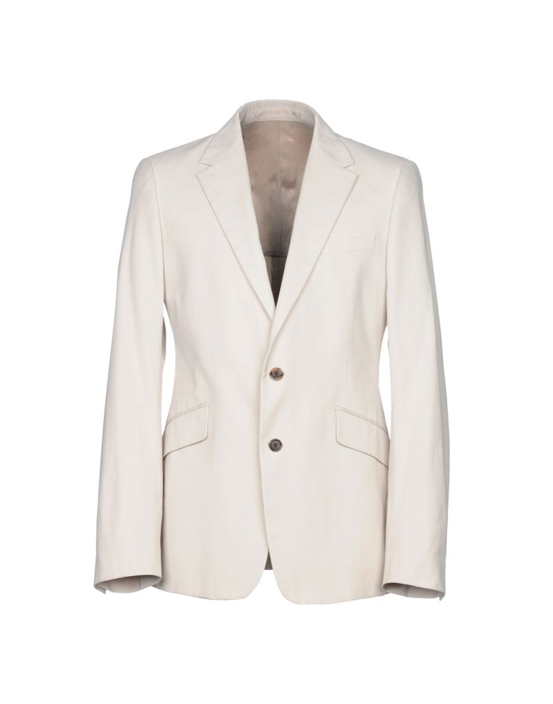 beige or white cotton Prada blazer suit jacket