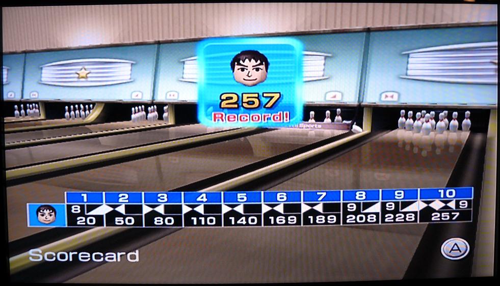 Final scorecard for 257