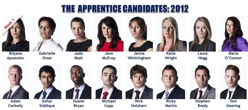 The Apprentice 2012: Week 1 Candidates