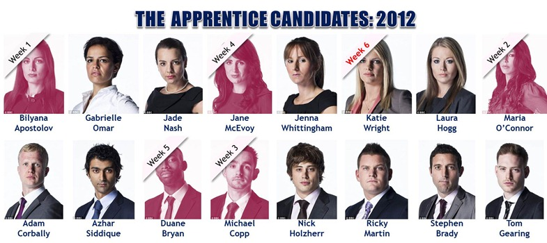 The Apprentice 2012 Week 6 Candidates