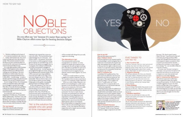 Yes - NO: NOble Objections by Mike Clayton