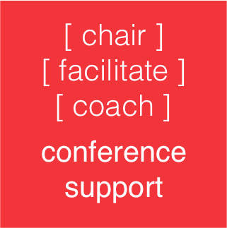 Mike Clayton can offer Conference Support - chairing or facilitating your event, or coaching your speakers