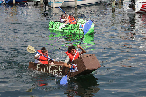 cardboard boat photo