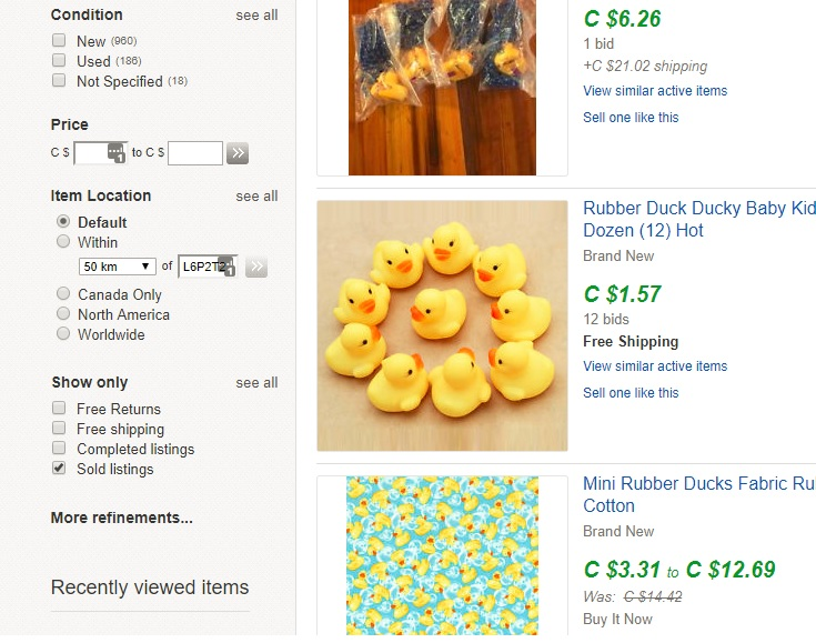 sold rubber ducks