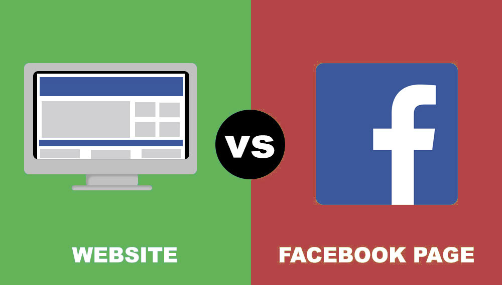 Facebook or a website