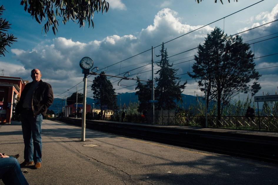 Train station near Pompei.