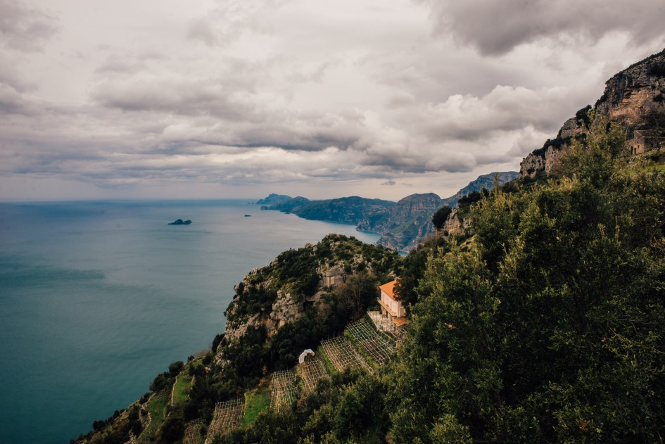 View from the Path of the Gods, Amalfi Coast.
