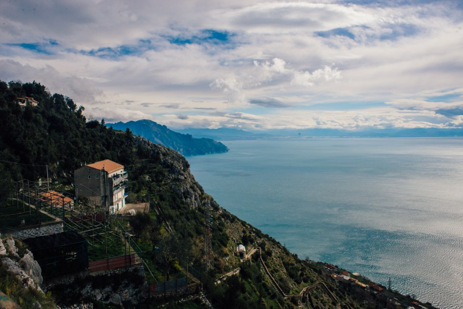 View of the Amalfi Coast.