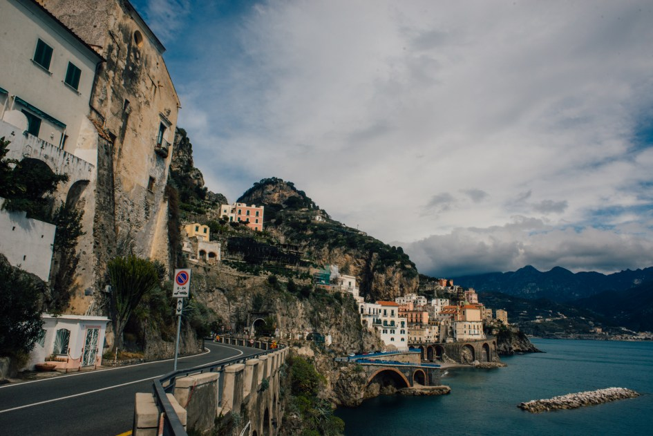 View of the city of Amalfi.