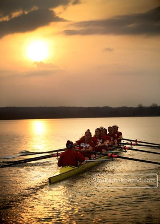 Rowing sunrise, 2013