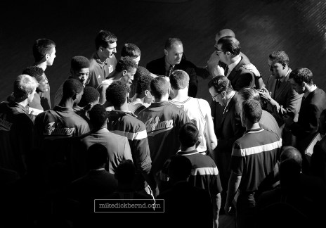 Team huddle