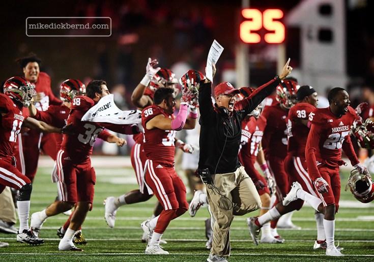 Assistant Coach Tom Allen, post-game celebration