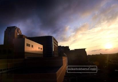 Methodist exterior, sunrise