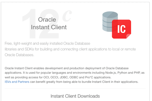 Oracle Instant Client Download OTN