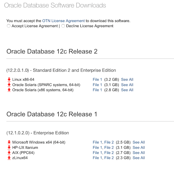 In Case You Miss The Downloads Of Oracle Database 12102 On Otn