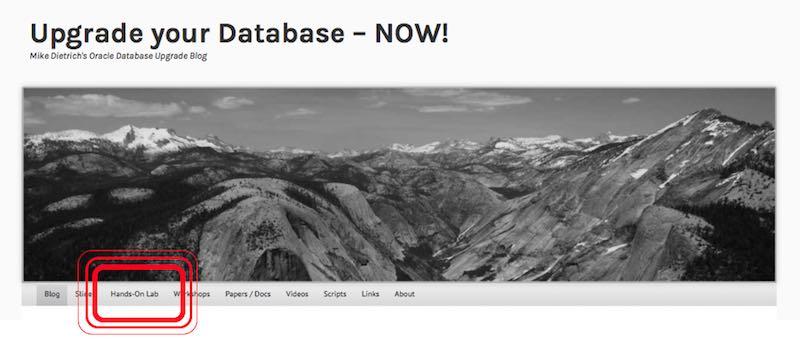 HOL Link on the Upgrade Blog