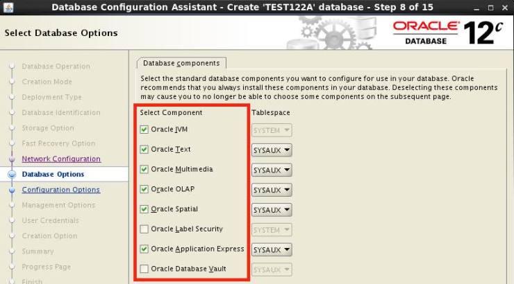 Always create databases as CUSTOM databases