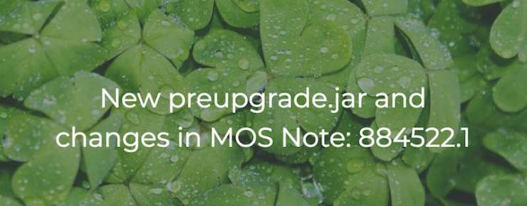 New preupgrade.jar and changes in MOS Note:884522.1