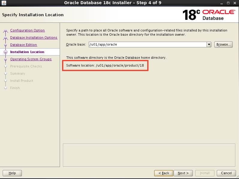 Installing Oracle Database 18c