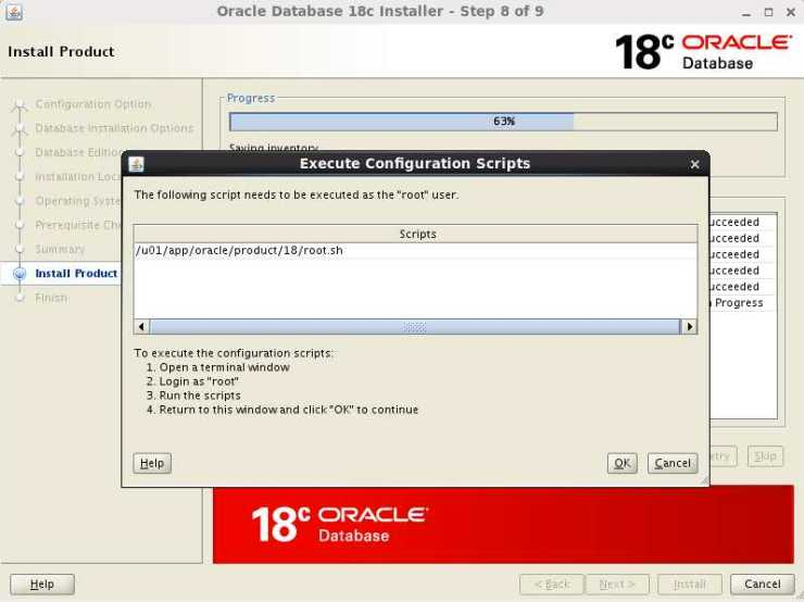 Installing Oracle Database 18c