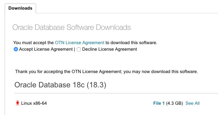 Oracle Database 18.3.0 on premises available for download on Linux