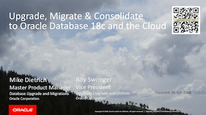 Upgrade / Migrate / Consolidate to Oracle 18c