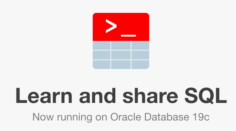 Oracle 19c is available in LiveSQL