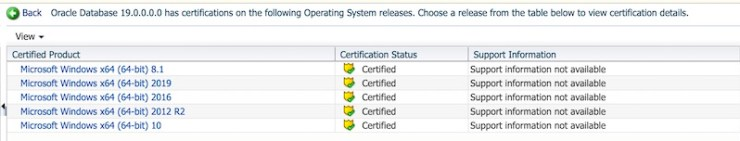 Oracle Database 19c (19.3.0) for Windows and zLinux is available