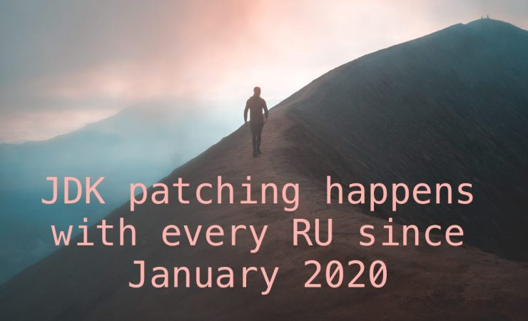 JDK patching happens with every RU now