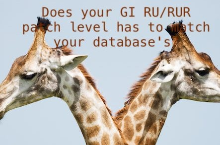 Does your GI RU/RUR patch level has to match your database's?