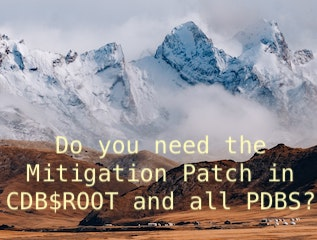 Do you need the Mitigation Patch in CDB$ROOT and all PDBS?